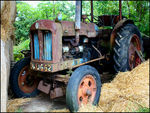 Title: Old Diesel Tractor