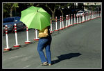 Title: Green UmbrellaNikon D100