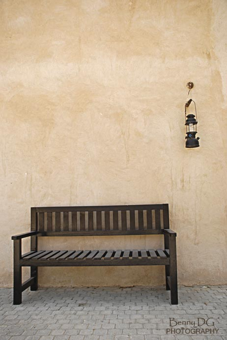 bench and lamp