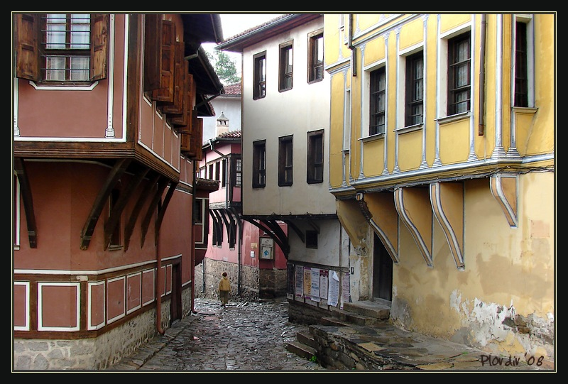 In the old town of Plovdiv