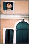 Title: * Man at tiny window *