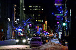 Title: Ste-Catherine, Montreal at nightNikon D7000 with MB-D11 Multi