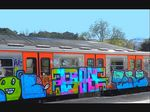 Title: Graffiti on train