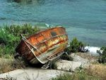 Title: rusty old boat