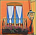 Title: window and lamp