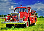 Title: Old age fire truck