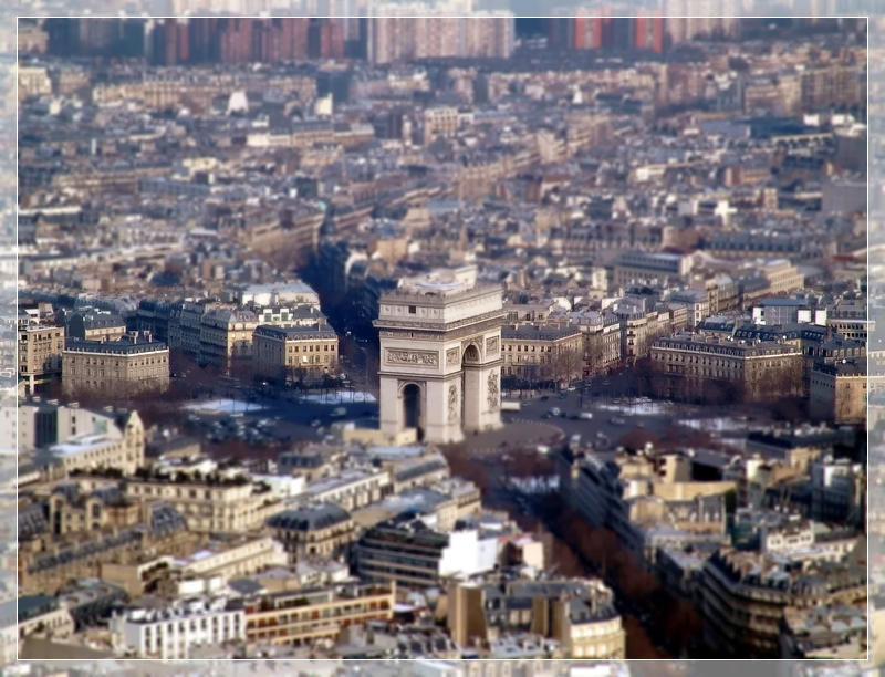 Arc de Triomphe in Miniature Model