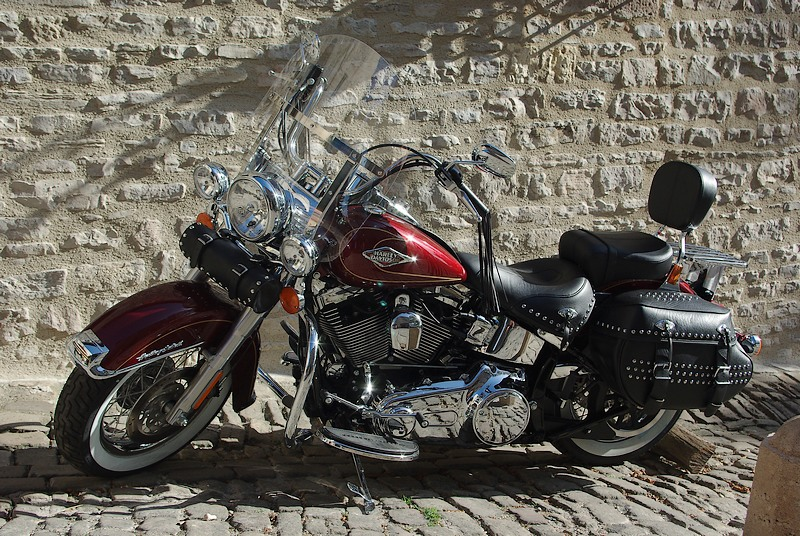 Harley and old stones