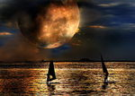 Title: Moonlight Sailing