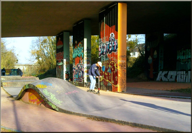 Colors and skateboard