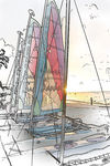 Title: Sailboat Sketch