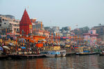 Title: Early Morning along the Ganges