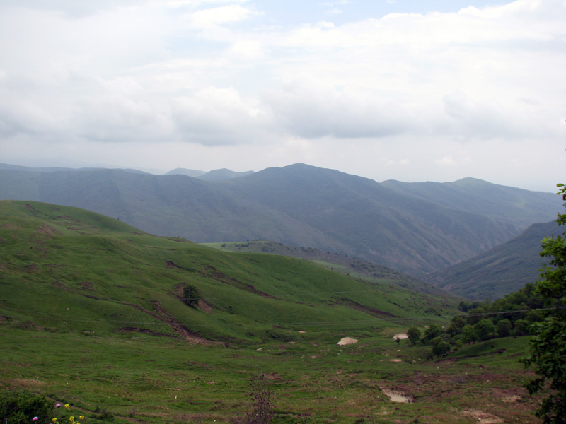 View from Agsu mountain pass