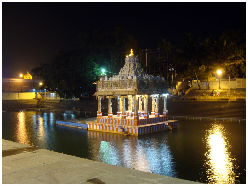 Tirupathi Koneru at night