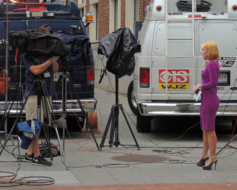 TV News People at Work
