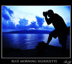 Title: Blue Morning SilhouetteNikon D60