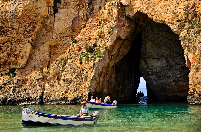 A boat ride in Dwejra Bay, Gozo