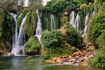 Title: Bathers in Kravice WaterfallsNikon D90