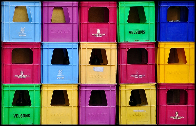 Full of Color_Plastic Crates