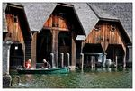 Title: Wooden Boathouses