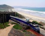 Title: Amtrak Surfliner at Del Mar, CA
