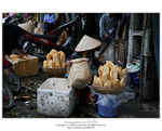 Title: Bread Sale at Dong Xuan Market