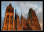 Title: The cathedral of Rouen Camera: Canon EOS 400D DIGITAL