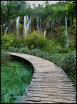 Title: Plitvice Lakes - footbridge