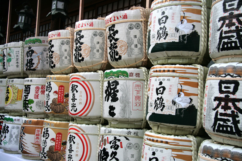 Sake tanks in Japan
