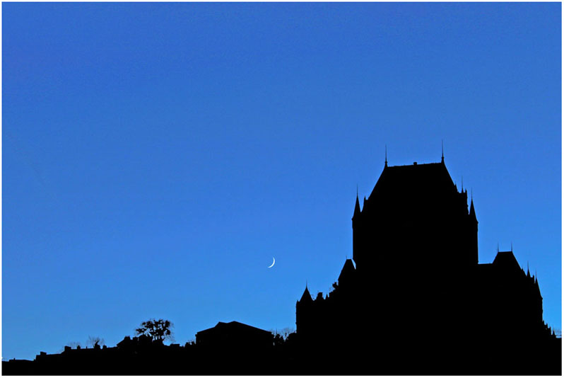 Moon over Quebec