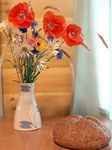 Title: Bread and flowersCanon EOS 5D Mark II