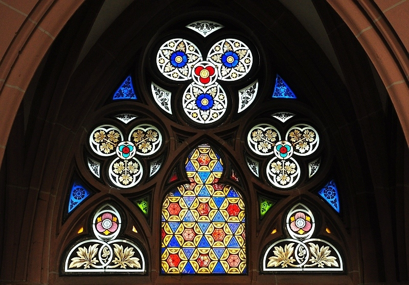Stained glass artwork