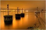 Title: a nightview on the river Elb