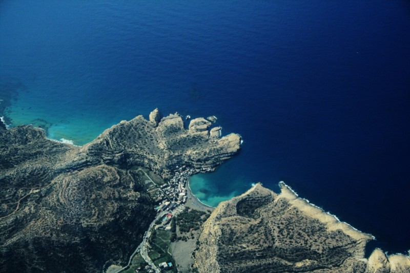 Skydiving over Crete