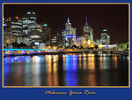 Title: Night of Yarra River