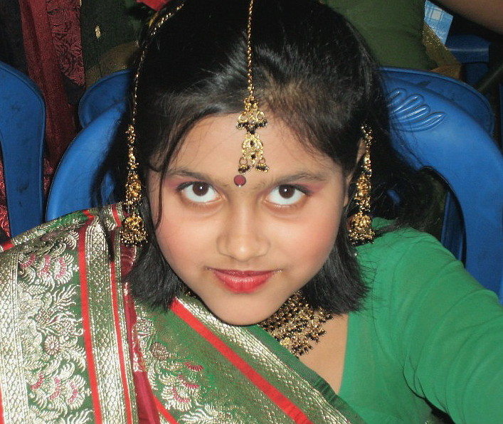 The Child in Bridal Costume