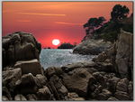 Title: Platja d Aro at sunrise