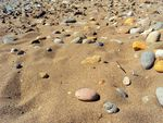 Title: stones on the sand