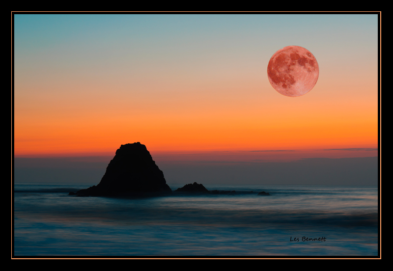 Full Moon over Widemouth Bay