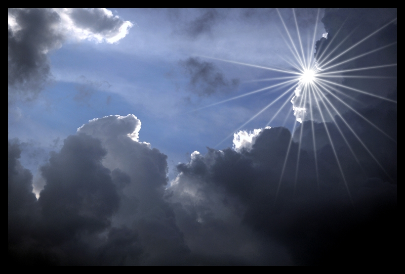 Sun flare and Clouds