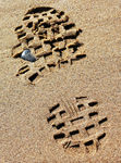 Title: FOOTPRINT IN SAND