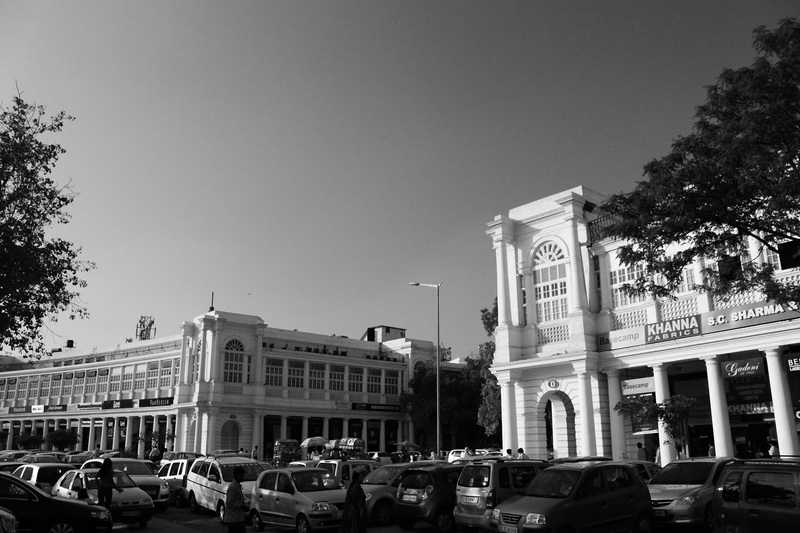 one side of Connaught Place