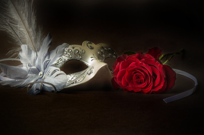 Red Rose and Mask