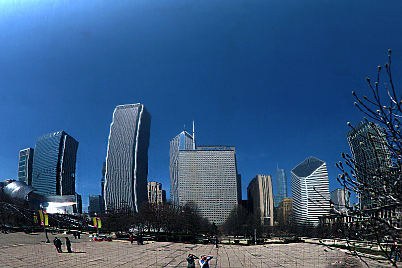 Chicago Reflections on the Cloud Gate