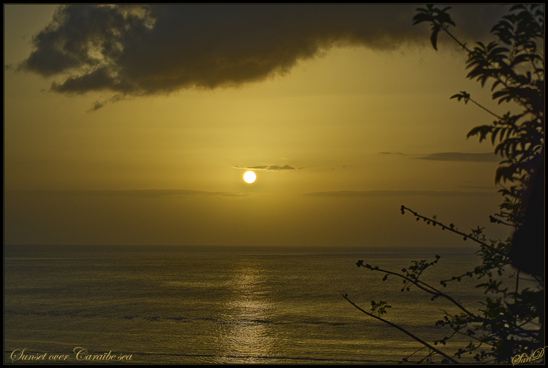 Sunset over Caraibe Sea