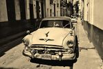 Title: Old car in Old Havana
