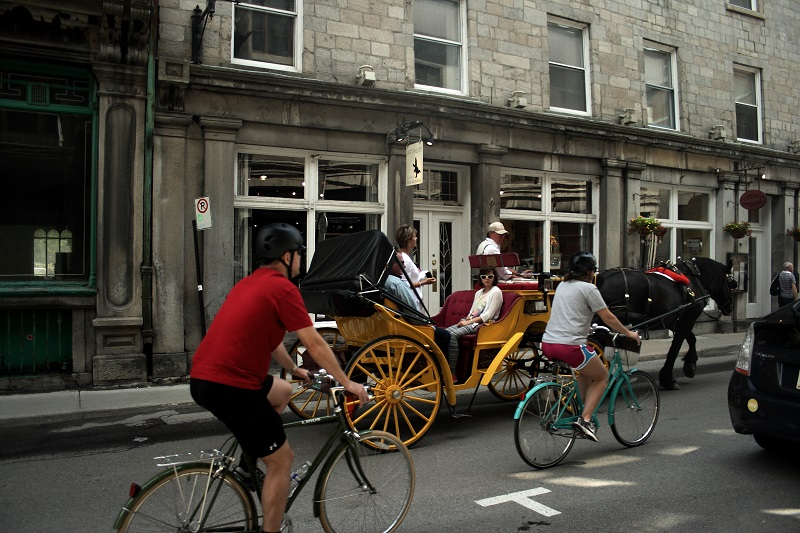 traffic in Old Montreal