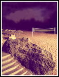 Title: beach volley at a kyrenian night