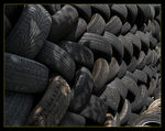 Title: Wall of tyres