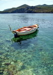 Title: Boat and crystal sea
